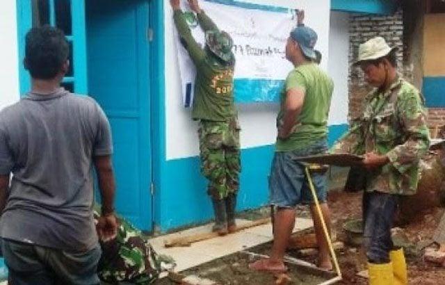 TNI Peduli Veteran, Rumah Mat Ali Direnovasi