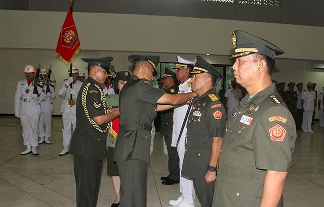 Tiga Jabatan di Lingkungan Kodiklat TNI Diserahterimakan