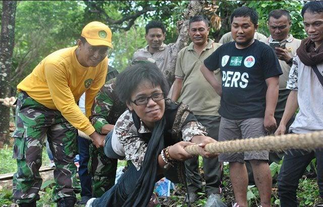 Outbound Korem 142/Tatag Akrabkan TNI dan Insan Media