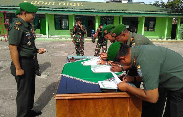 """""""Jelang Pilkada"""" Danramil Tandatangani Fakta Integritas Netralitas TNI"""