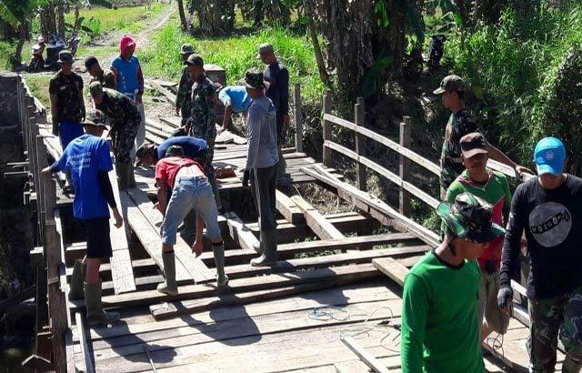 Jembatan Penghubung Antara Ds.Toe dengan Ds. Boki Rampung di Bangun