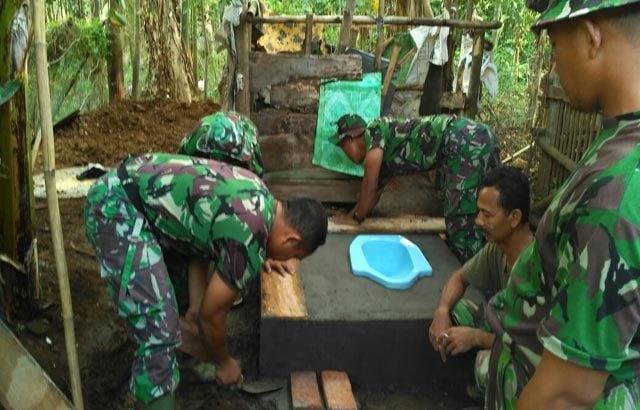 Bangun 5 Jamban Tambahan, Satgas TMMD di Jepara Lampui Target