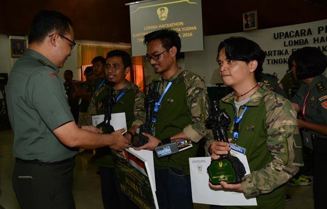 "Teknologi ""Si Patok"" Juara Pertama Lomba Inovasi Teknologi Digital dan IT Developer Hackathon TNI AD"