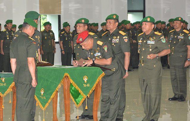 Mutasi Jabatan di Jajaran TNI AD