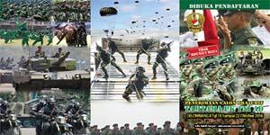 Penerimaan Calon Prajurit Tamtama PK TNI AD Gel II TA. 2016