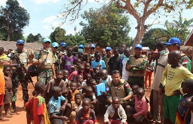 Satgas Kizi TNI Konga XXXVII-C/Minusca Gelar Pengobatan Gratis di Afrika Tengah