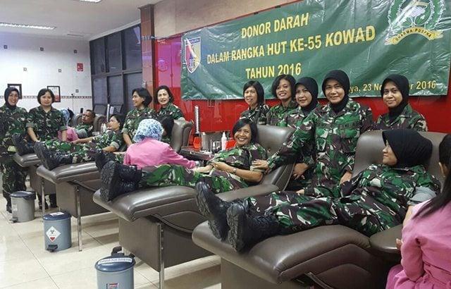 Donor Darah, Wujud Kepedulian TNI Kepada Sesama