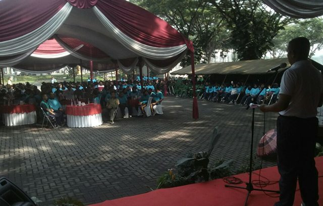 Sambut HUT ke-45 Korpri, Kodiklat TNI AD Gelar Gerak Jalan Santai