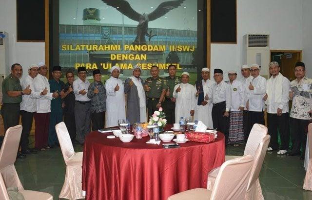 TNI Bersama Para Ulama Sumsel Sepakat Menjaga dan Mengawal Keutuhan NKRI