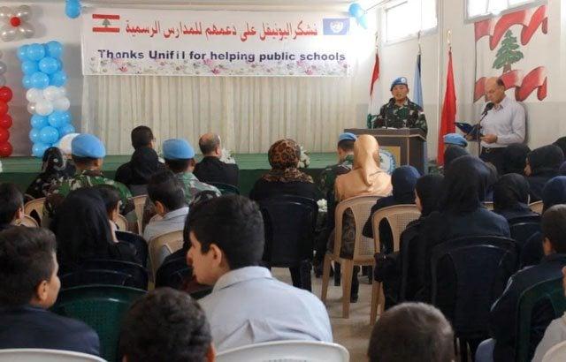 Prajurit TNI Peduli Pendidikan di Lebanon Selatan