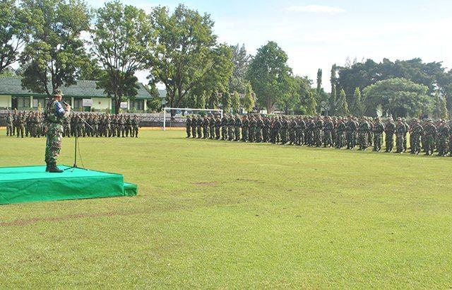 Prajurit Yonif 403/WP Gelar Latihan Jelang Penugasan Ke Perbatasan