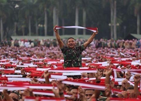 Panglima TNI, Kapolri, Kasad, Kasal, Kasau dan Slank Ramaikan Apel Nusantara Bersatu, Begini Suasananya