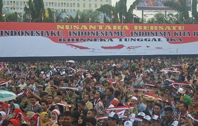 Prajurit Kodim 0716 Demak Meriahkan Apel Kebangsaan Nusantara Satu