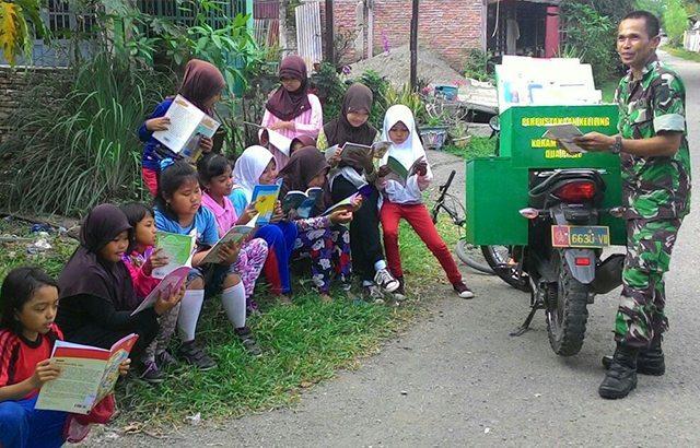 Masyarakat Sidrap Apresiasi Perpustakaan Keliling