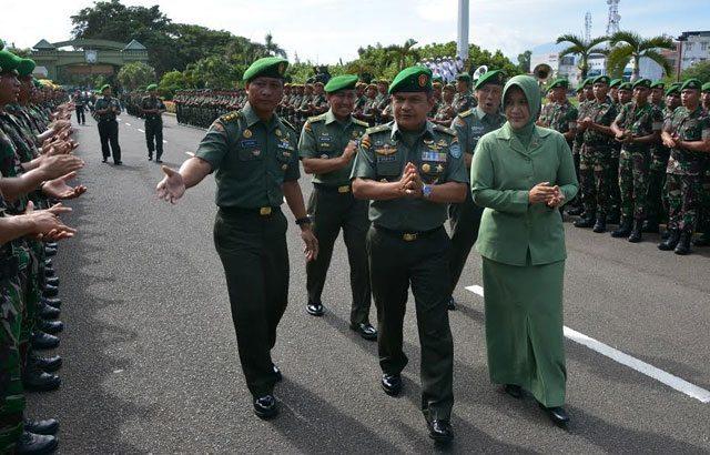 Warga Kodam IM Sambut Brigjen TNI Ahmad Daniel Chardin