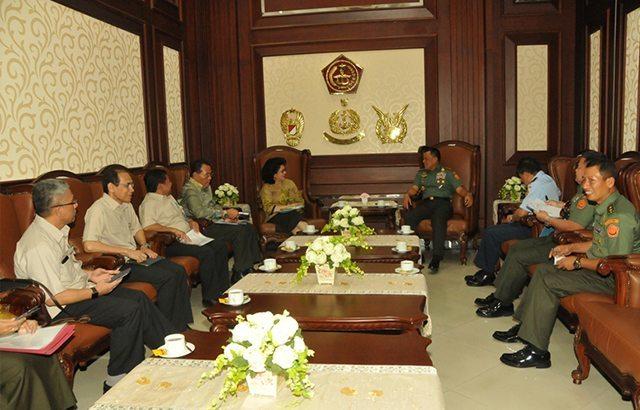 Panglima TNI Terima Kunjungan Menkes RI