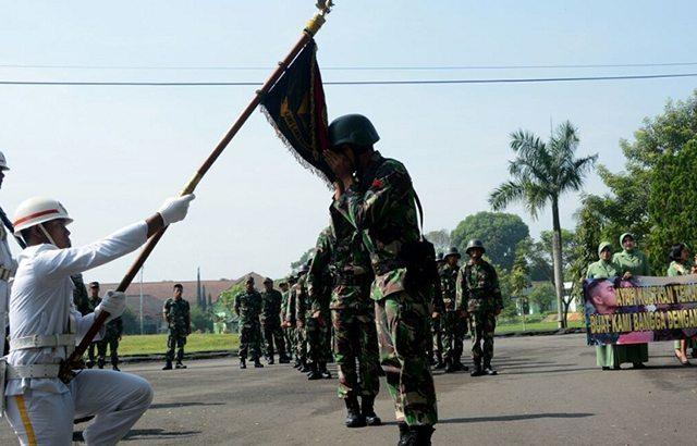 Divisi Infanteri- 1 Kostrad Gelar Tradisi Pelepasan Kontingen Peleton Tangkas