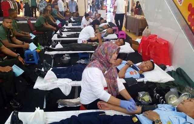 Sambut HUT Akmil Ke 59, Prajurit Siswa Dikma PA PK TNI Khusus Kedokteran Gelar Donor Darah