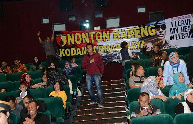 Kodam V/Brawijaya Gelar Nobar 'I Leave My Heart in Libanon di Sutos