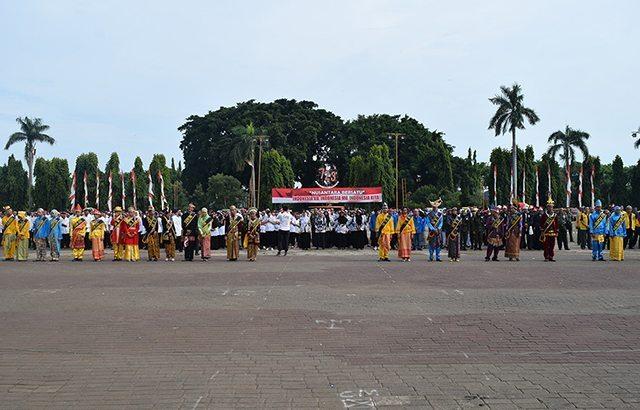 """""""Nusantara Bersatu"""" Masyarakat Tuban Gelar Apel Bersama"""