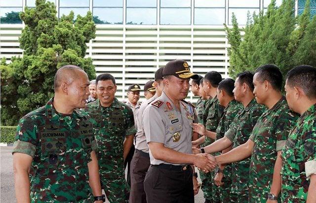 Pangdam II/Swj Terima Kunjungan Silaturahmi Kapolda Sumatera Selatan