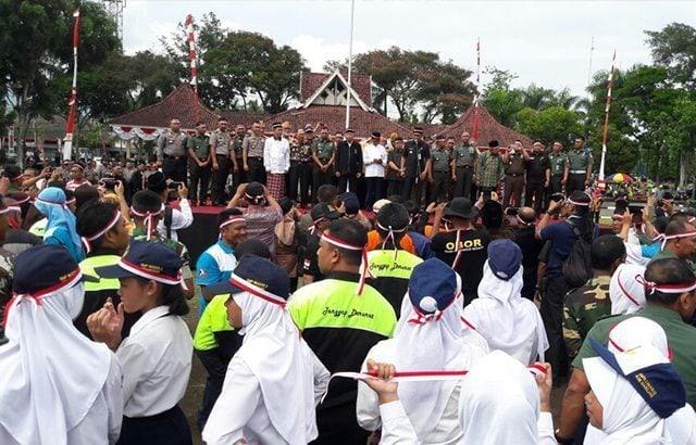 Tujuh Ribu Orang Hadir Pada Acara Apel Nusantara Bersatu Kota Mungkid