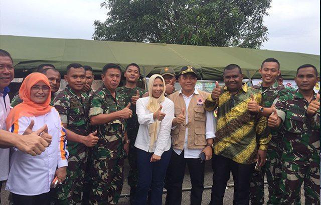 Dapur Umum Ala Militer, Gratis Untuk Korban Bencana Gempa