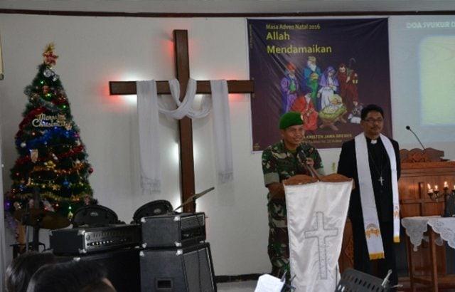 TNI-Polri Amankan Perayaan Natal di Brebes