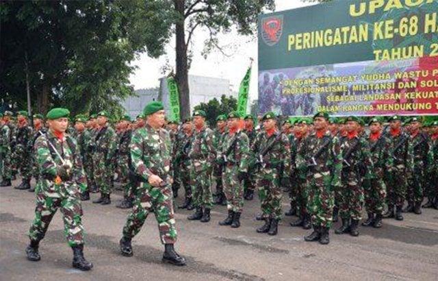 Peringatan Hari Infanteri ke-68 di Kodam II/Sriwijaya