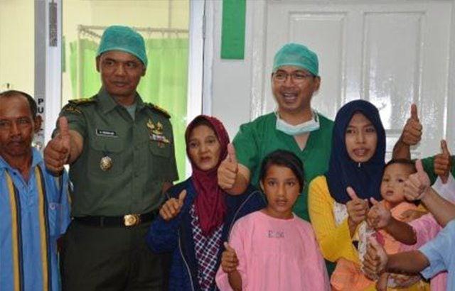 Korem 043/Garuda Emas Gelar Operasi Bibir Sumbing dan Donor Darah