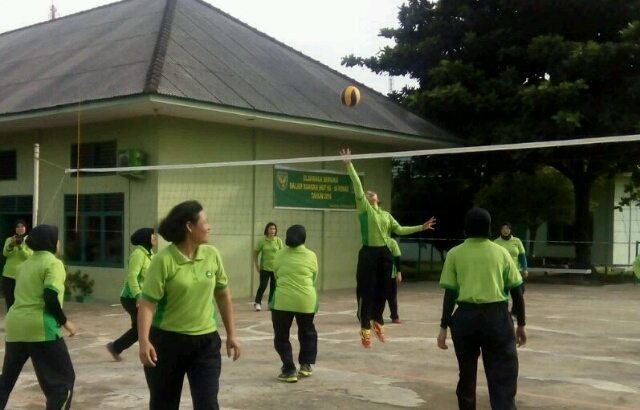 Peringati HUT-nya, Kowad se-Garnizun Palembang Gelar Olahraga Bersama
