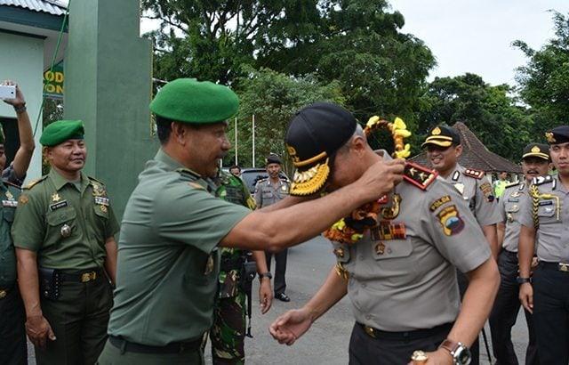 Pererat Sinergitas, Kapolda Jateng Kunjungi Kodim Wonosobo