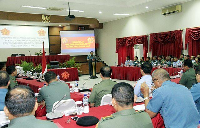 Kasum TNI : Prajurit TNI Wajib Taat Hukum