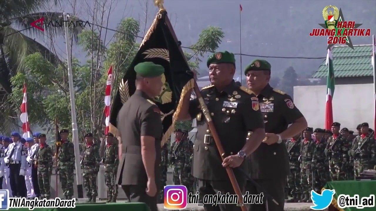 KASAD JENDERAL TNI MULYONO MERESMIKAN KODAM XIII MERDEKA DI MANADO SULAWESI UTARA