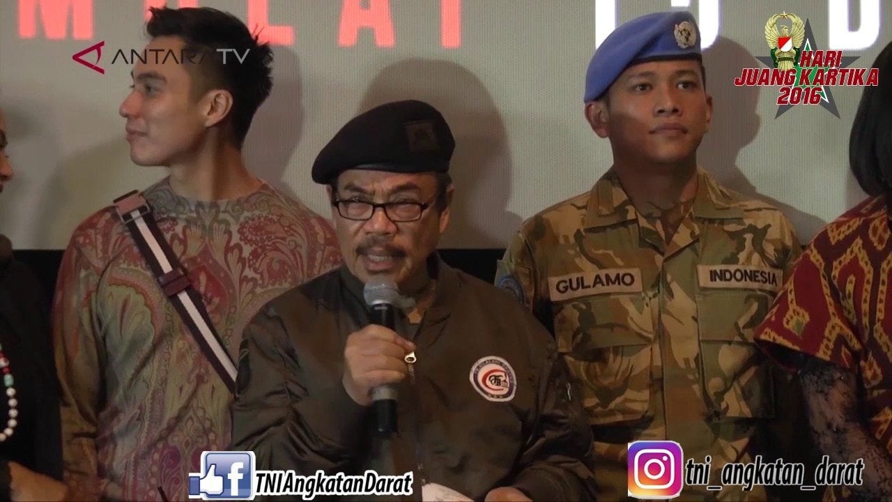 TNI ANGKATAN DARAT MENGGELAR ACARA NONTON BARENG NOBAR FILM I LEAVE MY HEART IN LEBANON