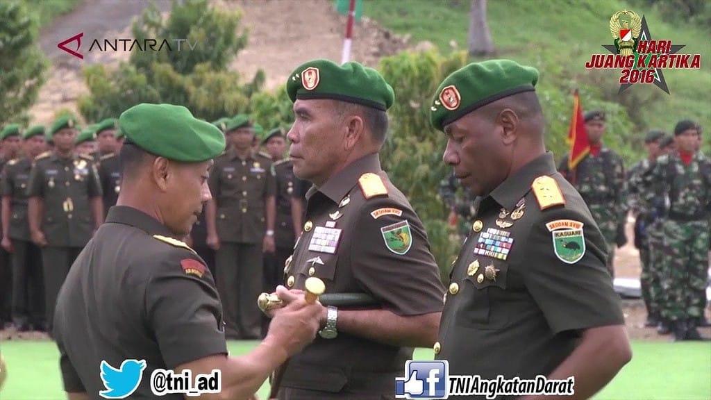 KASAD JENDERAL TNI MULYONO MERESMIKAN KODAM XVIII KASUARI DI MANOKWARI PAPUA BARAT