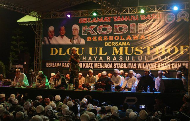 Malam Pergantian Tahun, Kodim 0820/Probolinggo Gelar Sholawat Bersama