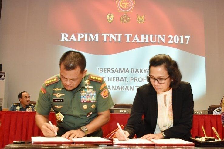 Kemenkeu RI dan TNI Tandatangani Nota Kesepahaman