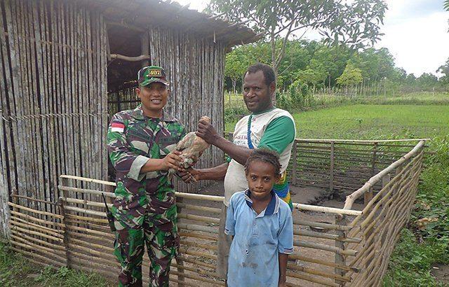 Kisah Sang Gembala Gereja Bersama Satgas 407/PK di Perbatasan RI-Papua Nugini