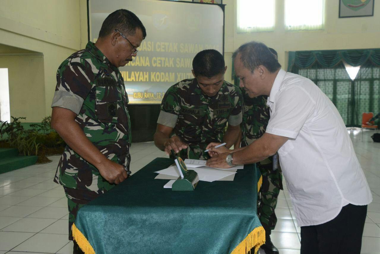 Kodam XII/Tpr Siap Sukseskan Cetak Sawah di Kalbar dan Kalteng