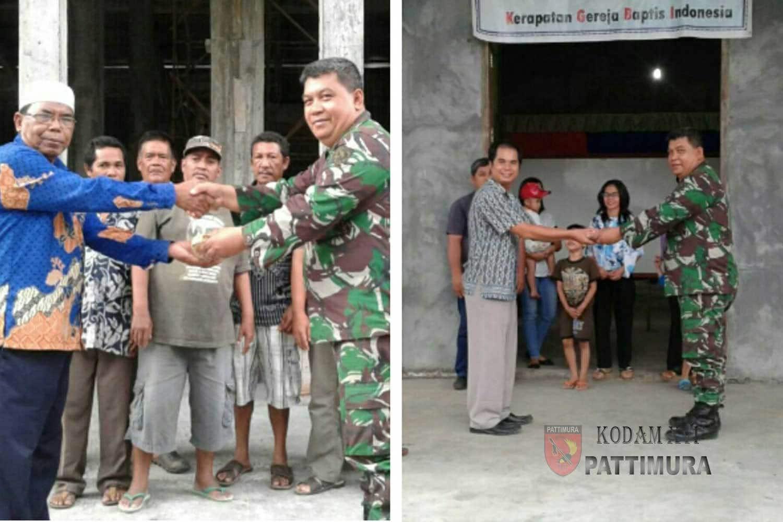 Kodim Tobelo Salurkan Bantuan Pangdam ke Rumah Ibadah di Halmahera Utara