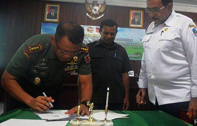 Korem 152/Babullah Siap Cetak Sawah Seluas 1.020 Hektar di Lahan Pertanian Baru