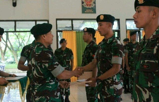 Brigif Raider 9 Kostrad Beri Penghargaan Prajuritnya Yang Berprestasi di Ajang Perlombaan Yong Moo Do