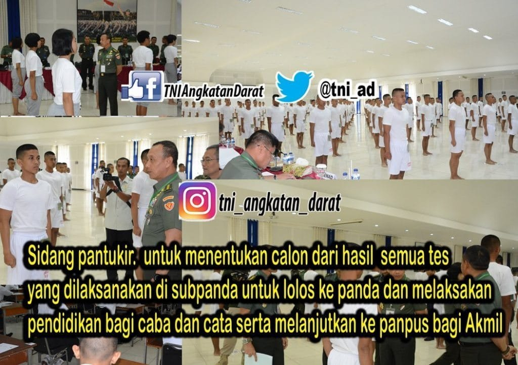 REKRUTMEN TNI ANGKATAN DARAT 2019