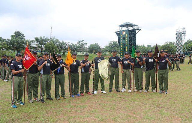 Prajurit Yonif Raider 200/BN Perebutkan Tameng Balaputradewa