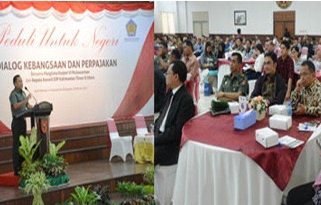 Wujud TNI Taat Pajak, Dialog Kebangsaan dan Perpajakan Digelar di Kodam VI/ Mulawarman