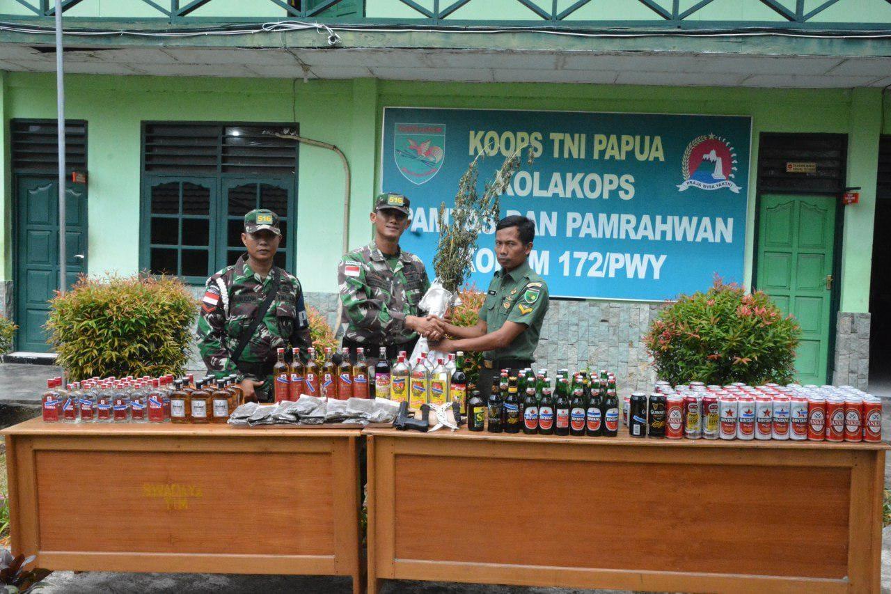 Perangi Tindakan Kriminal, Miras Dan Narkoba Di Sepanjang Perbatasan RI-PNG