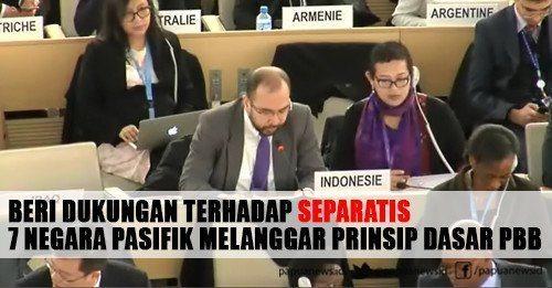 Beri Dukungan Terhadap Separatis, 7 Negara Pasifik Melanggar Prinsip Dasar PBB