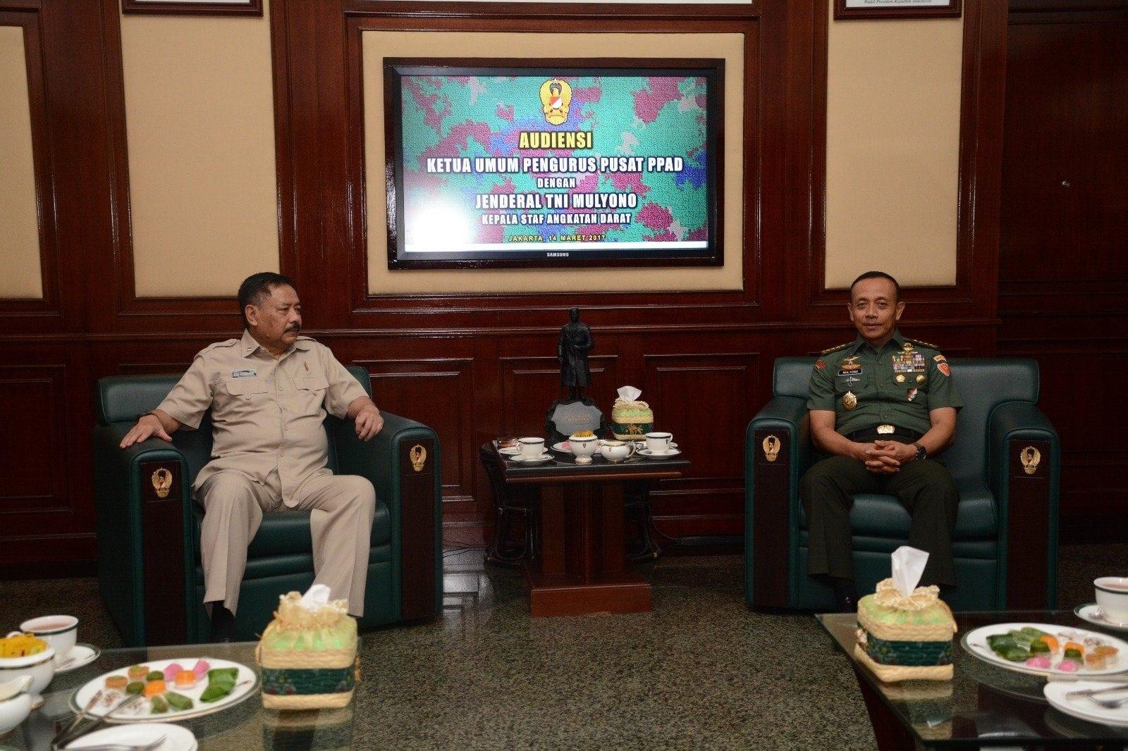 PPAD Komitmen Dukung Kebijakan TNI AD