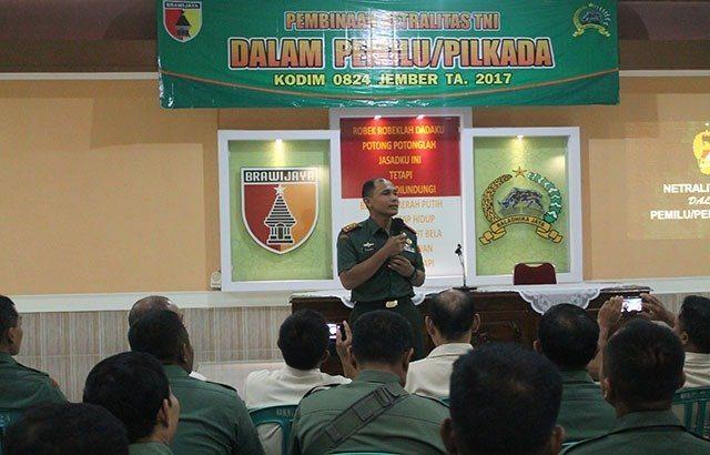 Kodim 0824/Jember Gelar Pemantapan Pembinaan Netralitas TNI